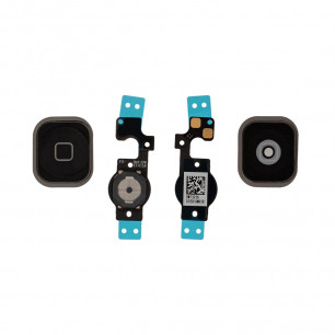 Шлейф Apple iPhone 5C с кнопкой Home, Black
