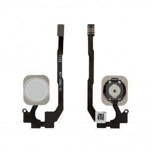 Шлейф Apple iPhone 5S, кнопка Home, White