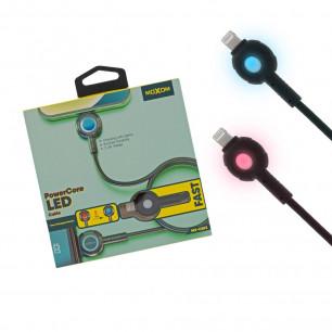 Кабель Moxom MX-CB72, LED индикация заряда, 1m, Lightning