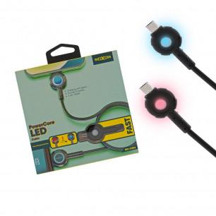 Кабель Moxom MX-CB72, LED индикация заряда, 1m, Micro USB