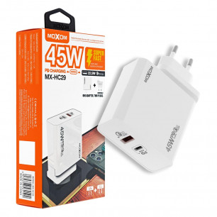 Сетевое зарядное устройство Moxom MX-HC29, QC 3.0 - 22.5W, Power Delivery 3.0 - 45W