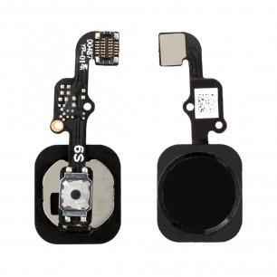 Шлейф Apple iPhone 6S, кнопка Home, Black