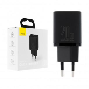 Сетевое зарядное устройство Baseus Super Si Quick Charger (CCSUP-B01), 20W, Type-C, Black