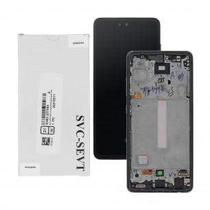 Дисплей Samsung A525 Galaxy A52 2021, GH82-25524A, с тачскрином, рамкой, Service Pack Original, Black