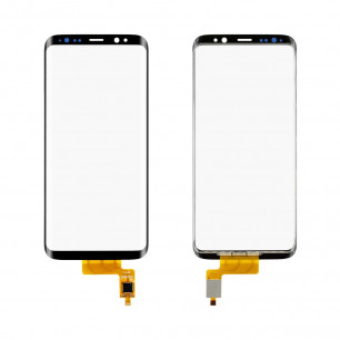 Стекло дисплея Samsung G950 Galaxy S8, с OCA пленкой, тачскрином, Original PRC, Black
