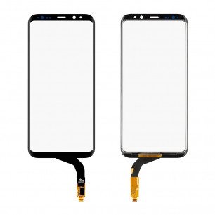 Стекло дисплея Samsung G955 Galaxy S8 Plus, с OCA пленкой, тачскрином, Original PRC, Black