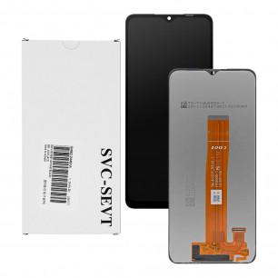 Дисплей Samsung A125 Galaxy A12, GH82-24491A, с тачскрином, Service Pack Original, Black