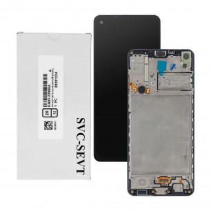 Дисплей Samsung A217 Galaxy A21s, GH82-22905A, с тачскрином, с рамкой, Service Pack Original