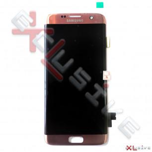 Дисплей Samsung G935 Galaxy S7 Edge, с тачскрином, Original PRC, Pink Gold