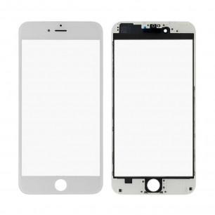 Стекло дисплея с рамкой и пленкой OCA Apple iPhone 6 Plus, Original, White