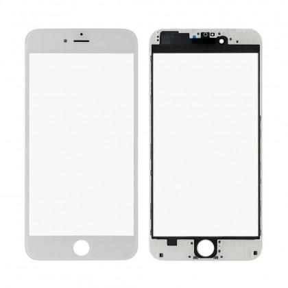 Стекло дисплея с рамкой и пленкой OCA Apple iPhone 6 Plus, Original, White - ukr-mobil.com