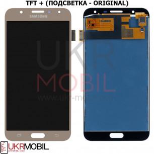 Дисплей Samsung J701 Galaxy J7 Neo, с тачскрином, TFT (с регулируемой подсветкой), Gold