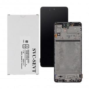 Дисплей Samsung M515 Galaxy M51, GH82-23568A, с тачскрином, с рамкой, Service Pack Original, Black