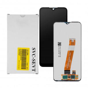 Дисплей Samsung A015 Galaxy A01, GH81-18209M, с тачскрином, широкий коннектор, Service Pack Original, Black