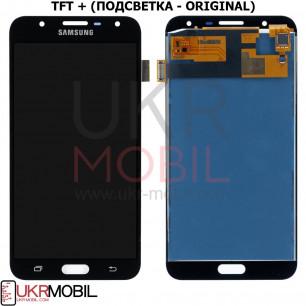 Дисплей Samsung J701 Galaxy J7 Neo, с тачскрином, TFT (с регулируемой подсветкой), Black