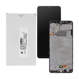 Дисплей Samsung A325 Galaxy A32, GH82-25566A, с тачскрином, рамкой, Service Pack Original, Black