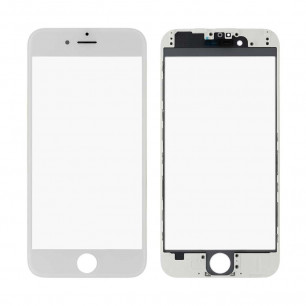 Стекло дисплея с рамкой и пленкой OCA Apple iPhone 6, White, Original