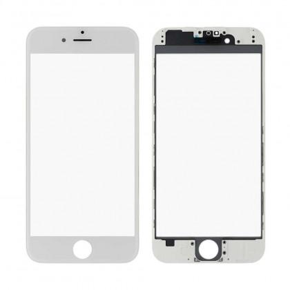Стекло дисплея с рамкой и пленкой OCA Apple iPhone 6, White, Original - ukr-mobil.com