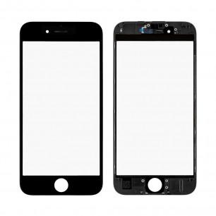 Стекло дисплея с рамкой и пленкой OCA Apple iPhone 6S, Original, Black