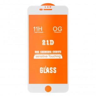 Защитное стекло Apple iPhone 6 Plus, 6S Plus, Full Glue 2.5D, White