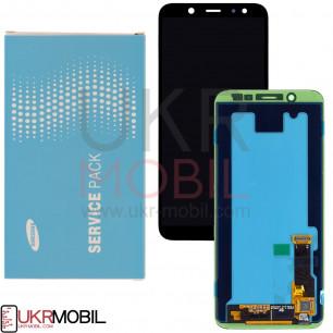 Дисплей Samsung A600 Galaxy A6, GH97-21897A, с тачскрином, Service Pack Original, Black