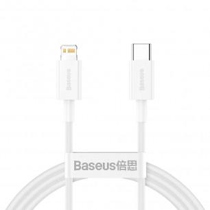 Кабель Baseus Superior Series Fast Charging Data (CATLYS-02), Type-C to Lightning, 20W, 0.25m, White