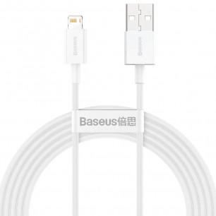 Кабель Baseus Superior Series Fast Charging Data (CALYS-A02), USB to Lightning, 2.4A, 1m, White
