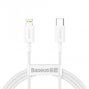 Кабель Baseus Superior Series Fast Charging Data (CATLYS-A02), Type-C to Lightning, 20W, 1m, White