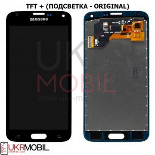Дисплей Samsung G900 Galaxy S5, TFT (подсветка - original), с тачскрином, Black