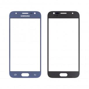 Стекло дисплея Samsung J330 Galaxy J3 2017, Original, Blue