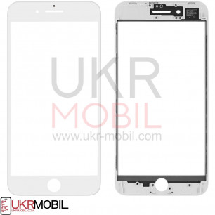 Стекло дисплея с рамкой и пленкой OCA Apple iPhone 8 Plus, Original, White