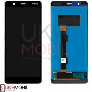Дисплей Nokia 5.1 TA-1061, TA-1075, с тачскрином, Black