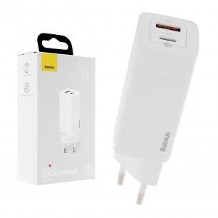 Сетевое зарядное устройство Baseus GaN2 Lite Quick Charger (CCGAN2L-B02), 65W, Type-C, USB, White