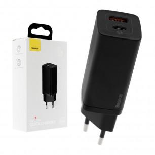 Сетевое зарядное устройство Baseus GaN2 Lite Quick Charger (CCGAN2L-B01), 65W, Type-C, USB, Black