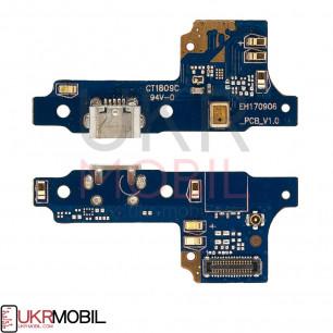 Шлейф Huawei Y5 II (CUN-U29) 3G, Y5 II (CUN-L21) 4G, Honor 5, Honor Play 5, с разъемом зарядки, микрофоном