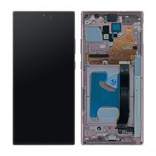 Дисплей Samsung N985 Galaxy Note 20 Ultra, с тачскрином, рамкой, Original, Bronze