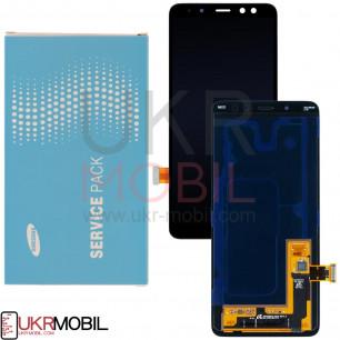 Дисплей Samsung A530 Galaxy A8 2018, GH97-21529A, с тачскрином, Service Pack Original, Black