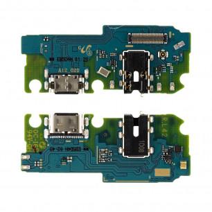 Шлейф Samsung A125 Galaxy A12, с разъемом зарядки, гарнитуры, Original