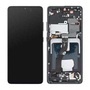 Дисплей Samsung G998 Galaxy S21 Ultra, с тачскрином, рамкой, Original, Phantom Black
