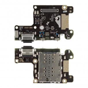 Шлейф Xiaomi Mi 9T, Mi 9T Pro, Redmi K20, Redmi K20 Pro, нижняя плата с разъемом зарядки, Sim коннектор, Original