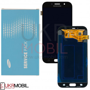 Дисплей Samsung A720 Galaxy A7 2017, GH97-19723A, с тачскрином, Original, Black
