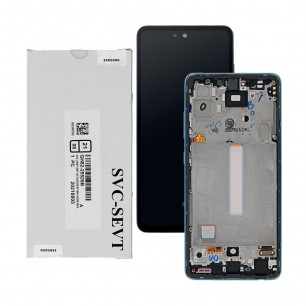 Дисплей Samsung A525 Galaxy A52 2021, GH82-25524B, с тачскрином, рамкой, Service Pack Original, Blue