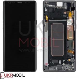 Дисплей Samsung N960 Galaxy Note 9, Original, с тачскрином, рамкой, Black