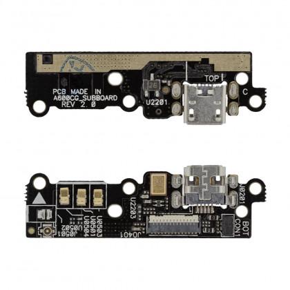 Шлейф Asus ZenFone 6 плата с коннектором зарядки, микрофоном, фото № 1 - ukr-mobil.com