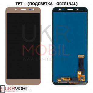 Дисплей Samsung J600 Galaxy J6 2018, с тачскрином, TFT (с регулируемой подсветкой), Gold