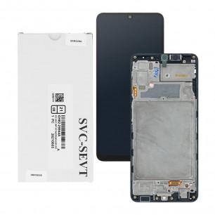 Дисплей Samsung A225 Galaxy A22, GH82-25944A, с тачскрином, с рамкой, Service Pack Original, Black