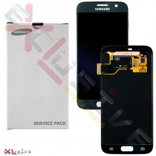 Дисплей Samsung G930 Galaxy S7 GH97-18553A (SERVICE PACK ORIGINAL) с тачскрином Black