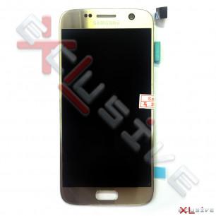 Дисплей Samsung G930 Galaxy S7, OLED, с тачскрином, Gold