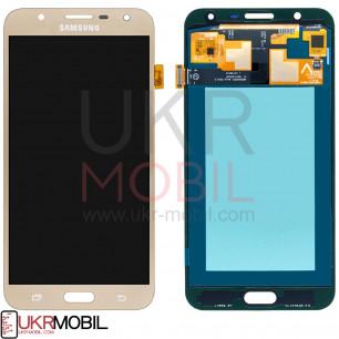 Дисплей Samsung J701 Galaxy J7 Neo, с тачскрином, OLED, Gold