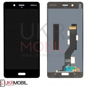 Дисплей Nokia 8 TA-1004, TA-1012, с тачскрином, Black